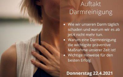 Infozoom am 22. April: Auftakt zur Darmreinigung