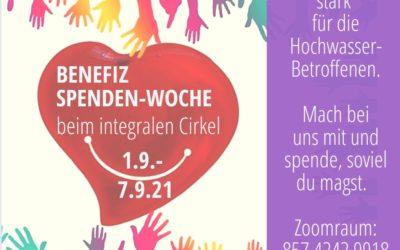 01.09.21: BENEFIZ Spenden-Woche beim INTEGRALEN CIRKEL